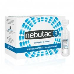 Nebutac 3, hipertoniczny roztwór do inhalacji 3% NaCl, ampułki, 30x4ml