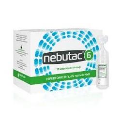 Nebutac 6, hipertoniczny roztwór do inhalacji 6% NaCl, ampułki, 30x4ml